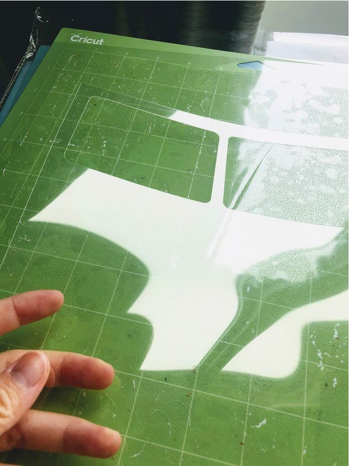 how to make reusable stencils with cricut maker