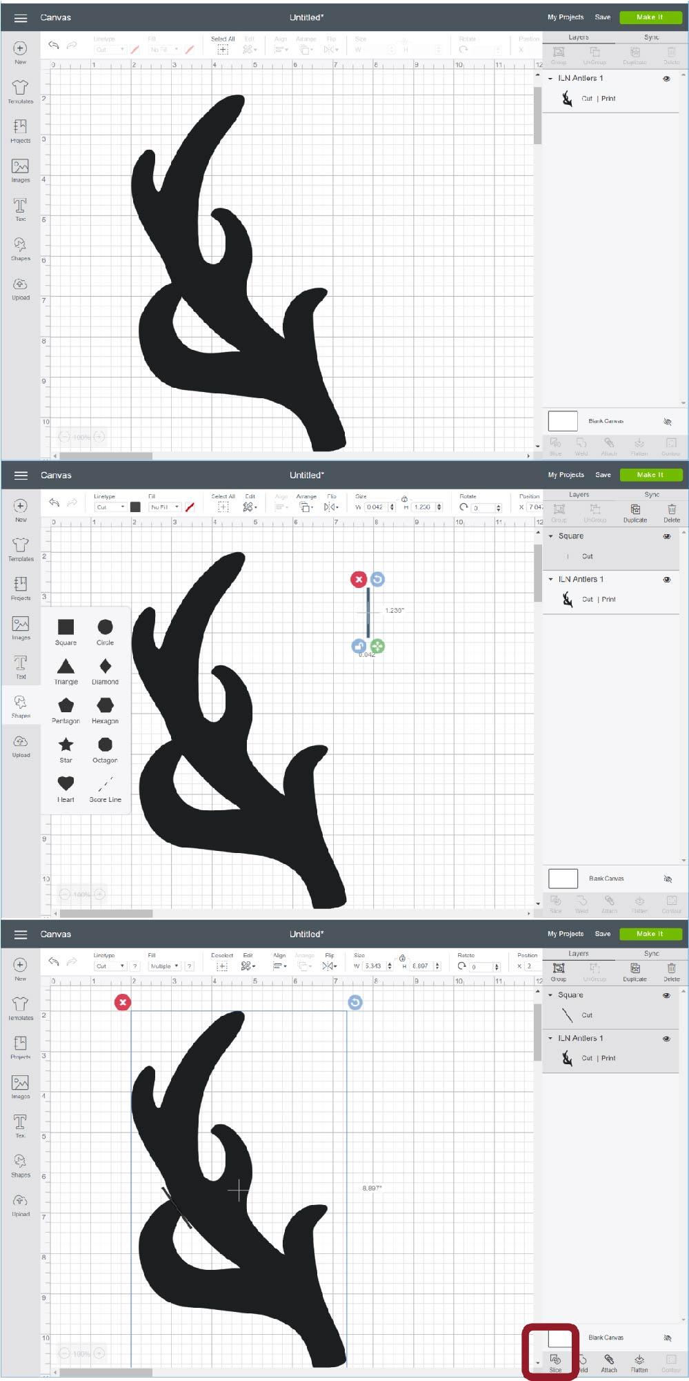 how to make a stencil on cricut