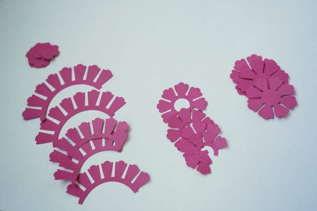 paper peonies cricut