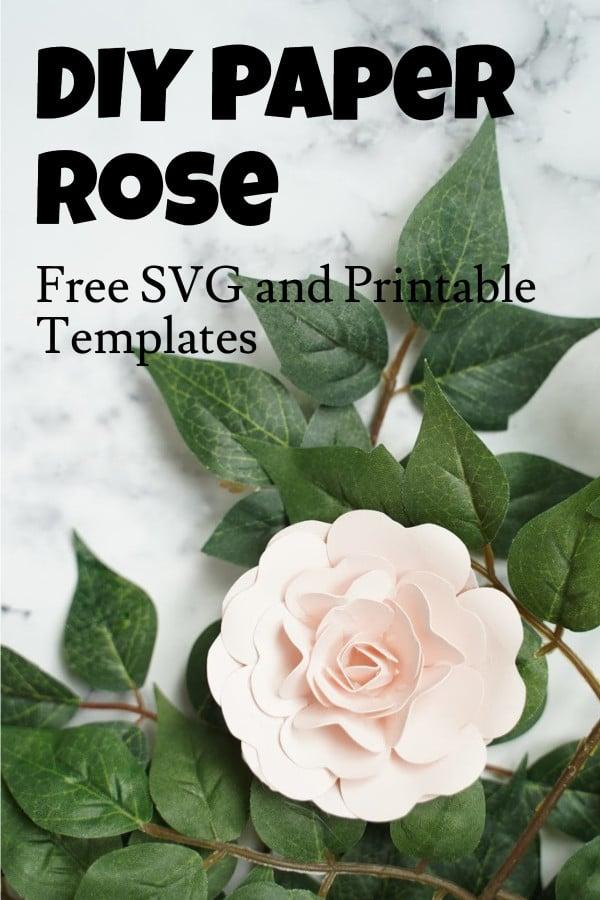 Cricut paper flower rose