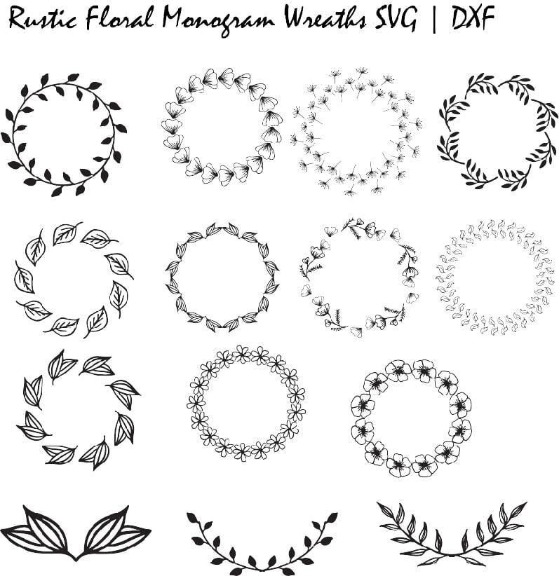 monogram fonts for cricut free