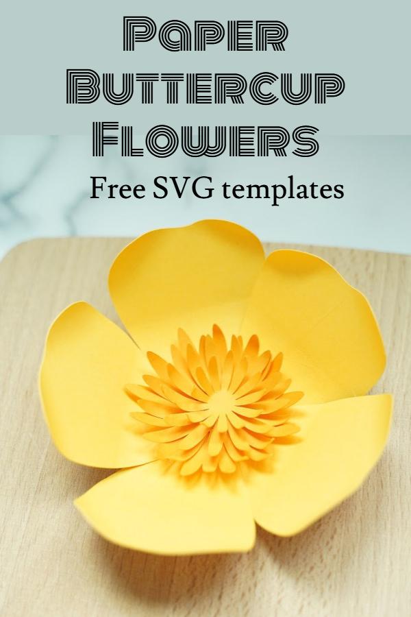 paper buttercup flower tutorial