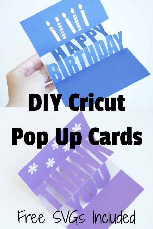Cricut pop up cards free SVG