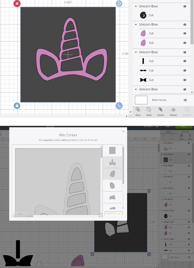 how to layer on cricut