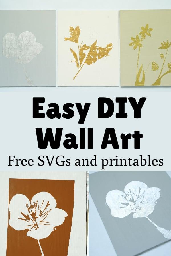 DIY stencil on canvas wall art