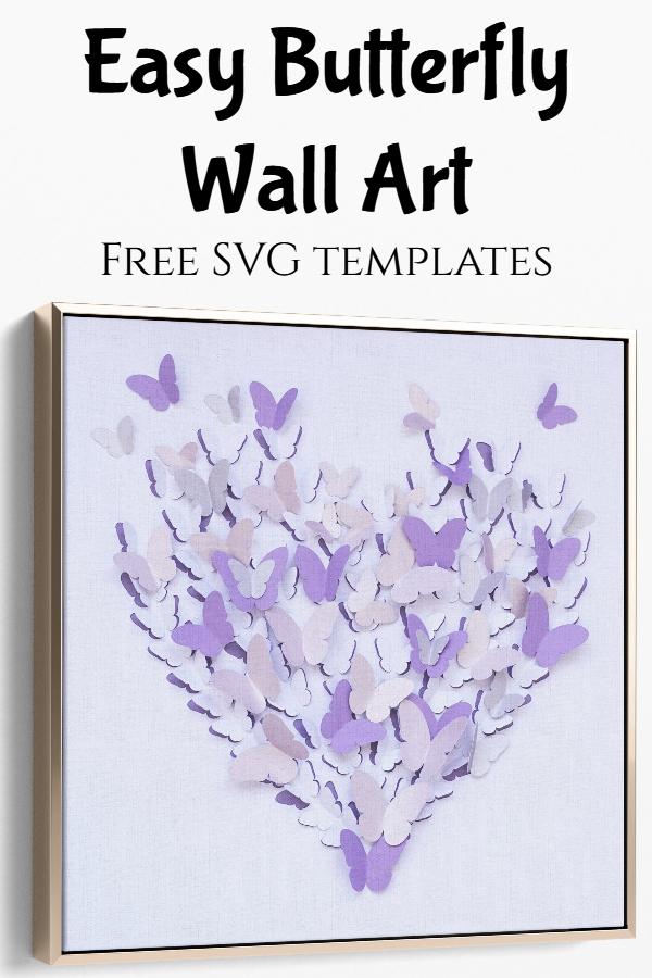 butterfly wall art SVG