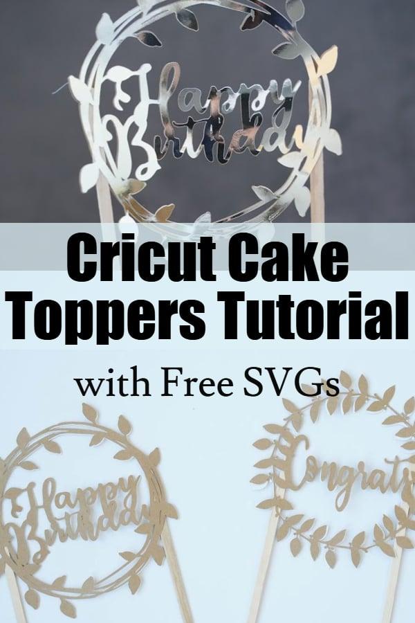 Cricut cake topper tutorial