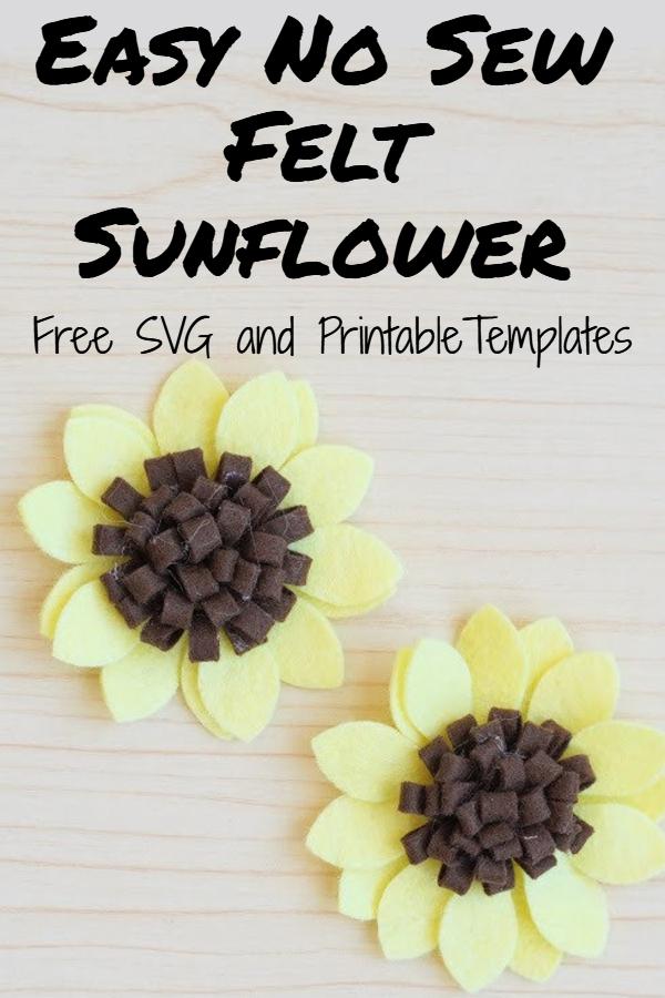 easy felt sunflower tutorial