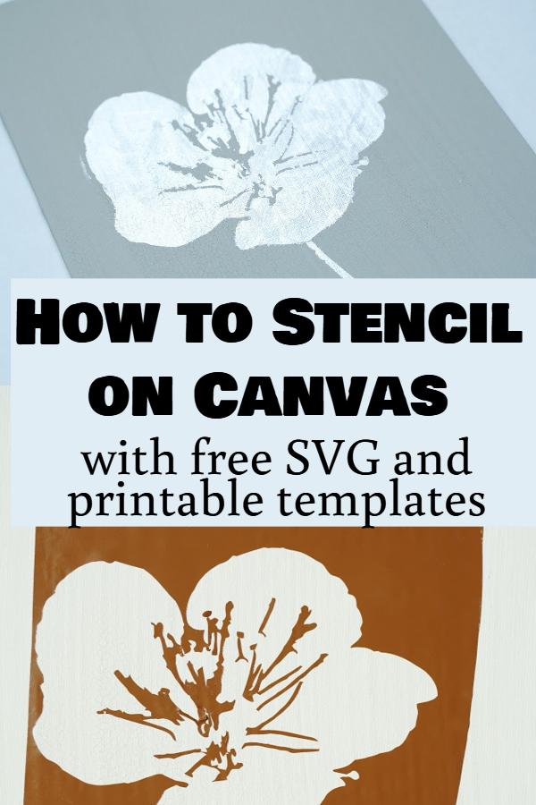 cricut stenciling project