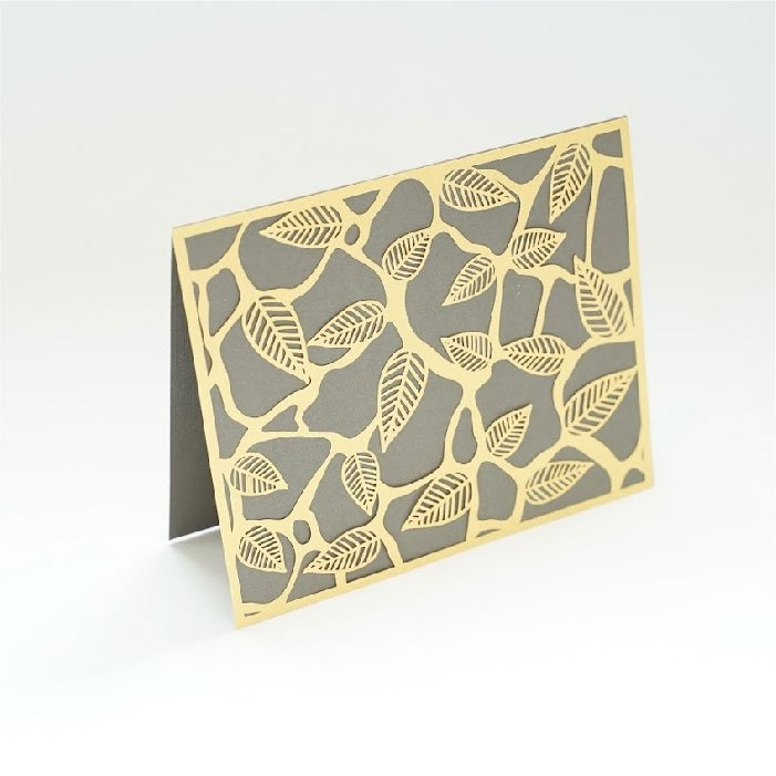 Abstract leaves card