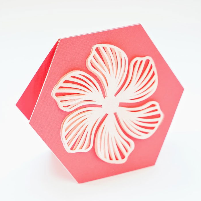 Blended hibiscus card