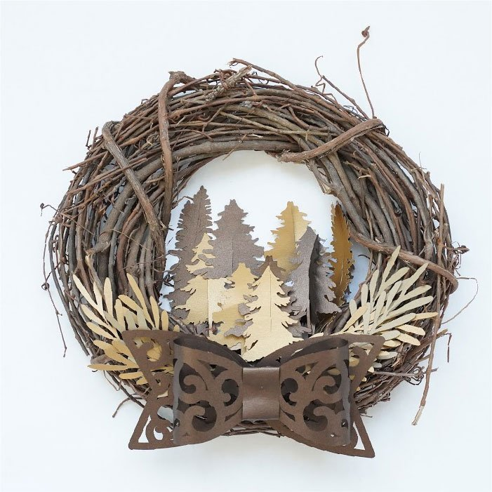 Bow branches wreath