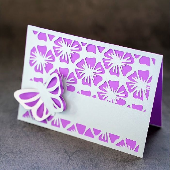 Butterfly hibiscus card