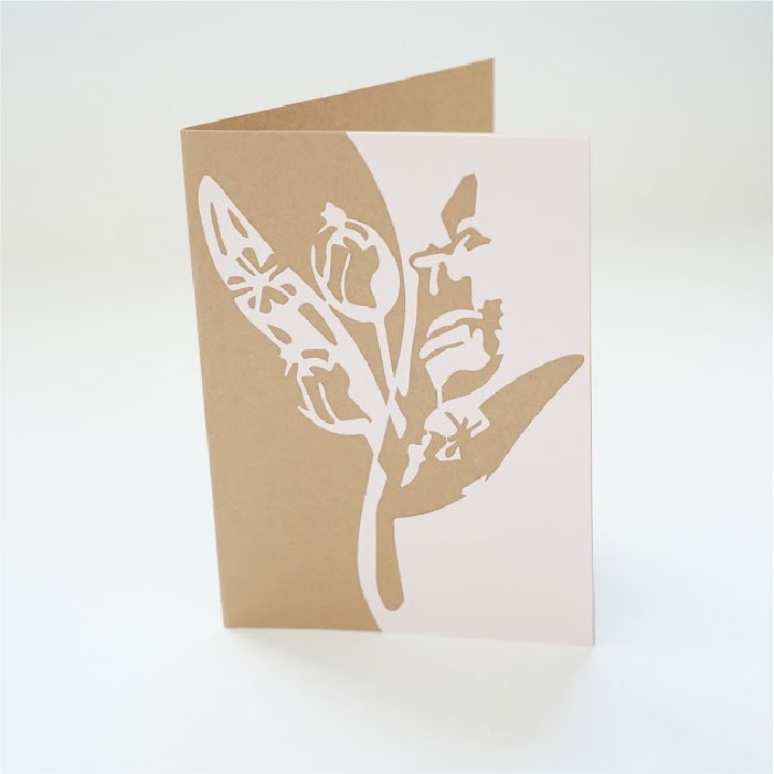 Floral berry card