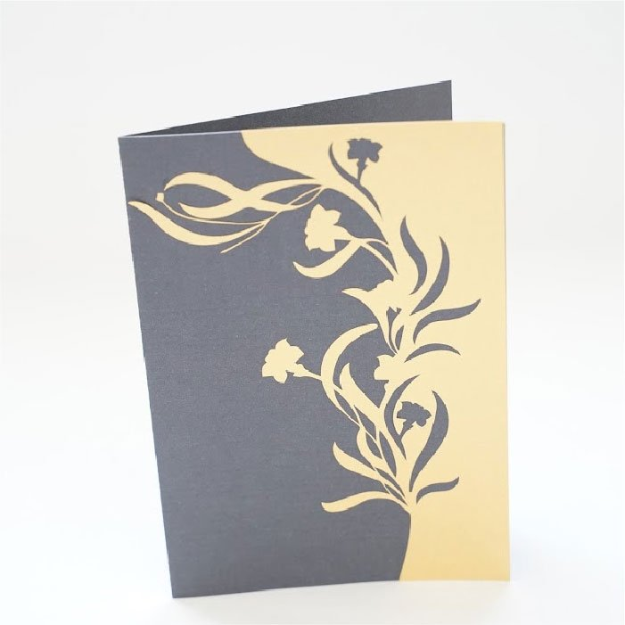 Half lily card
