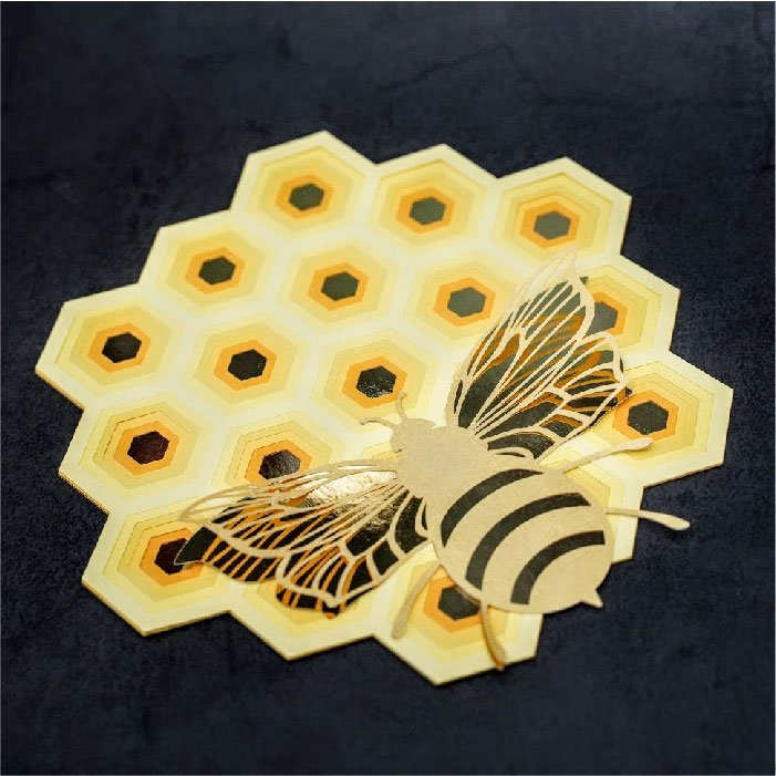 Honeycomb mandala