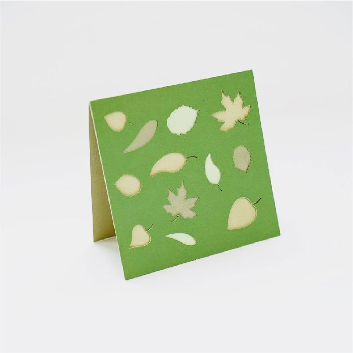 Layered leaves card