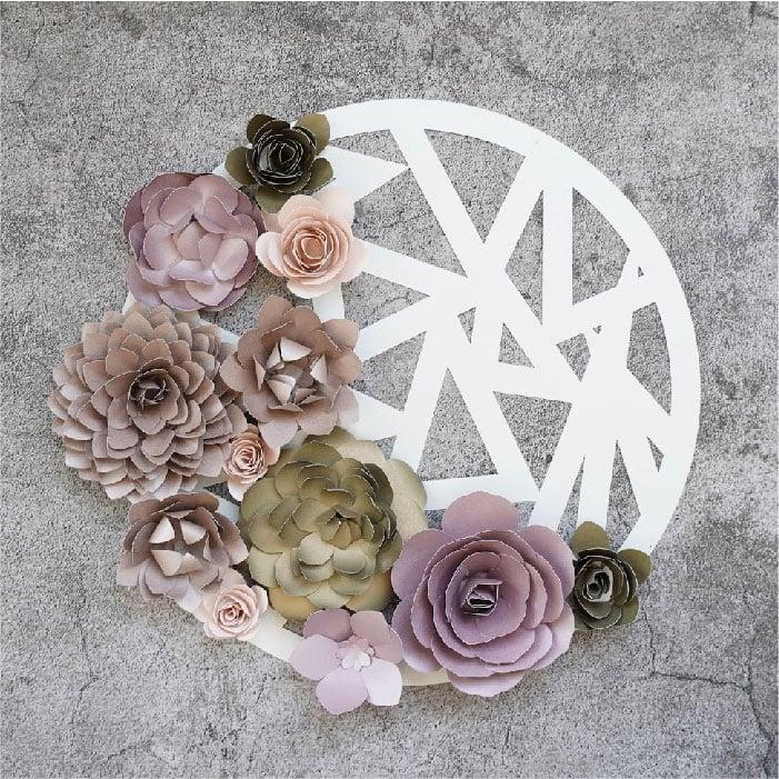 Metallic flower bouquet
