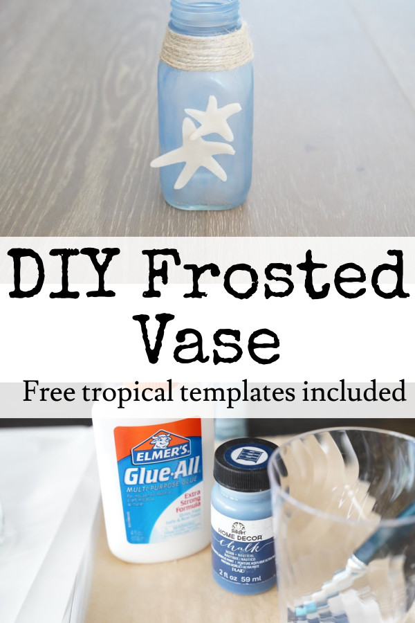 diy frosted glass with glue