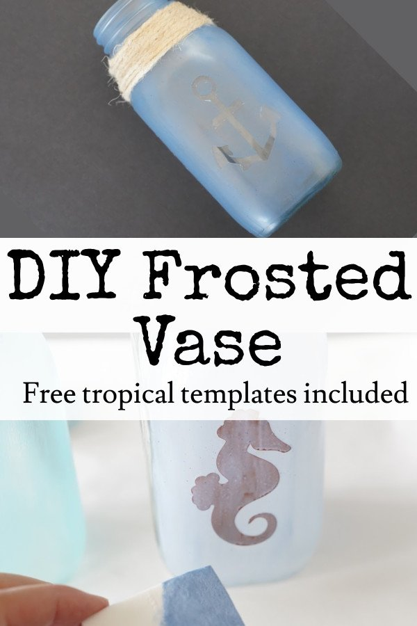 how to frost glass jars