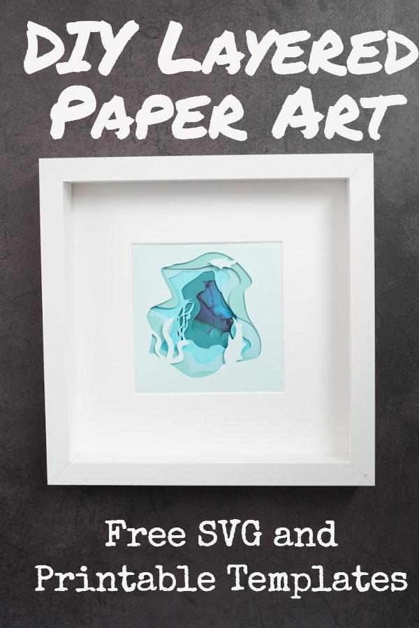 layered paper art templates