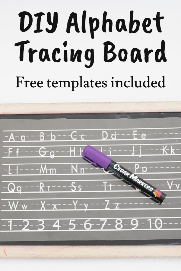 DIY alphabet tracing board