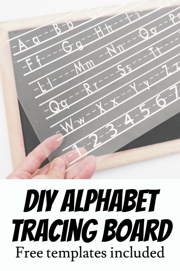 Alphabet tracing template
