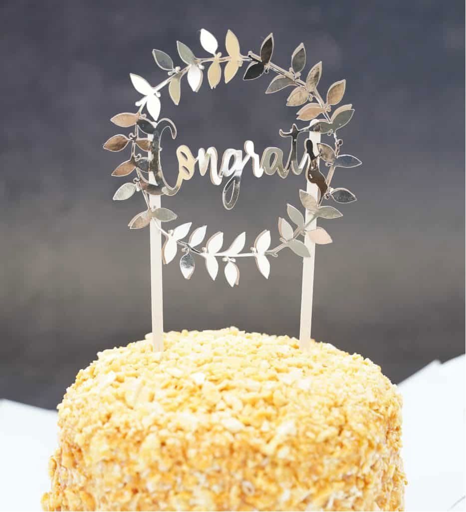 DIY birthday cake topper
