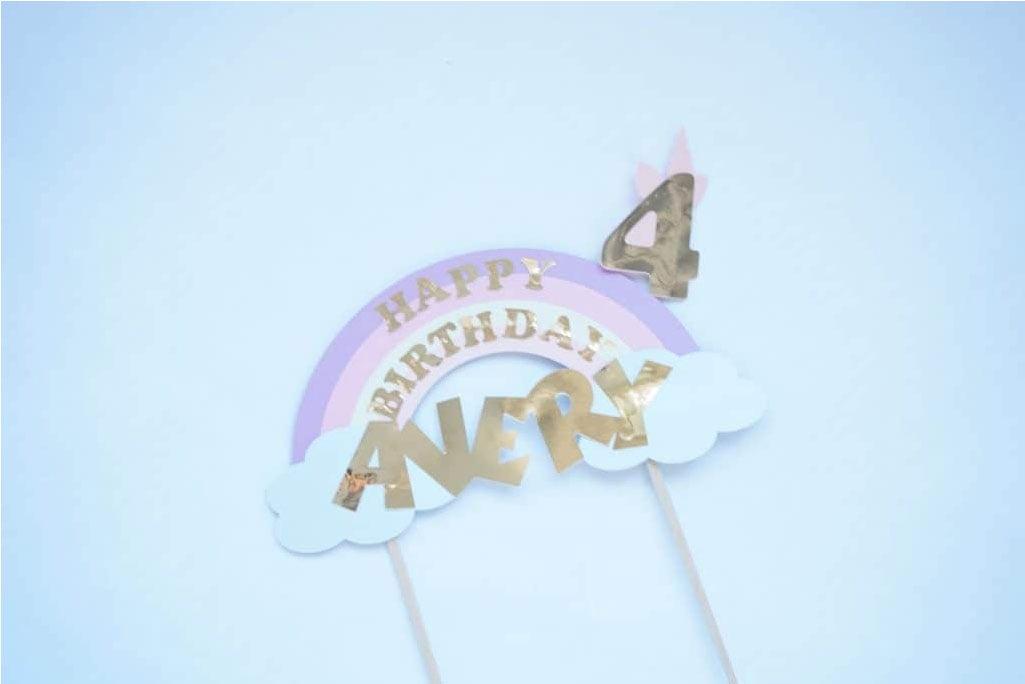 unicorn cake topper svg template