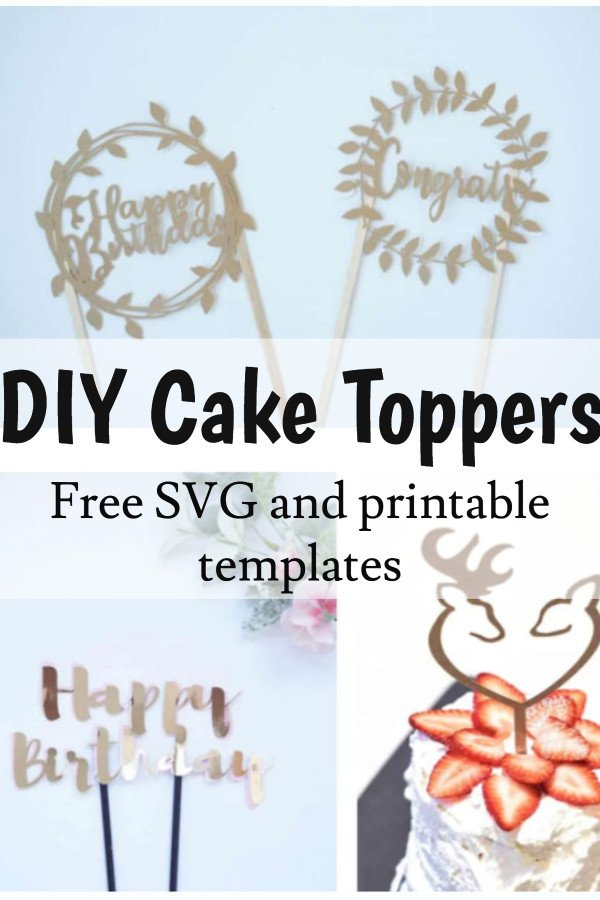 DIY cake topper template free