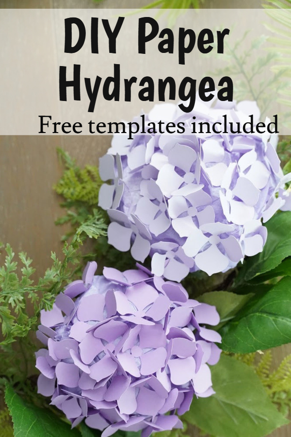 DIY paper hydrangea