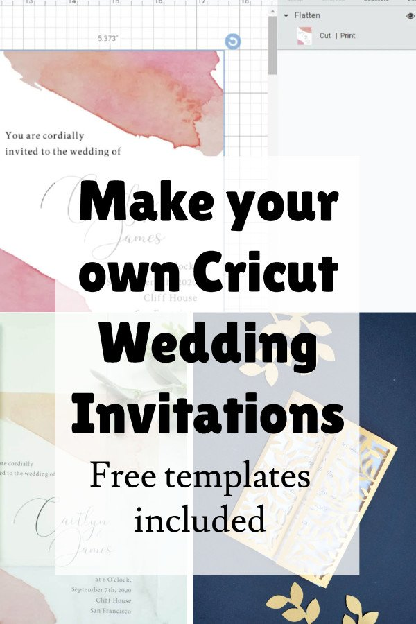 how to make your own wedding invitations with cricut