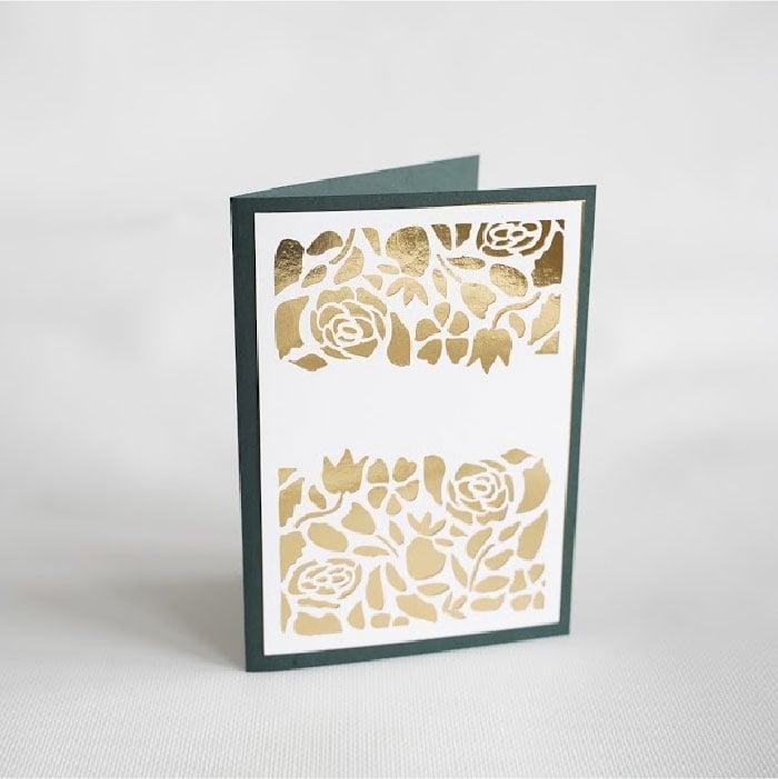 Floral lace card