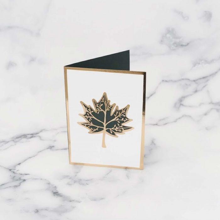 Maple leaf tree card