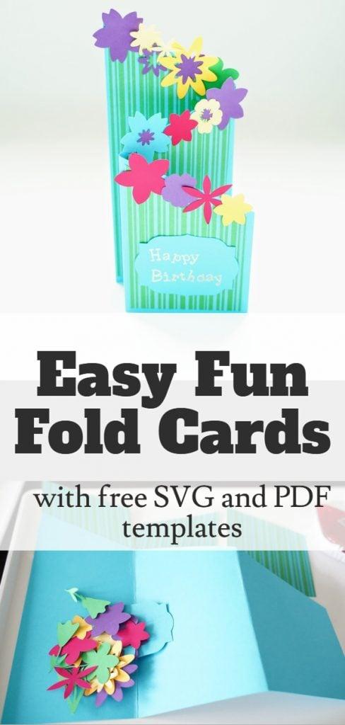 Cricut fun fold card ideas