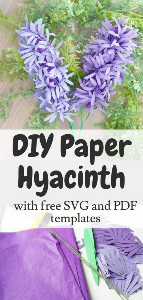 Free paper hyacinth flower template