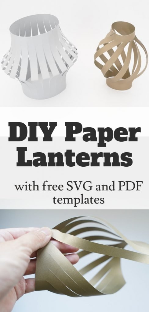 Paper lantern tutorial and templates