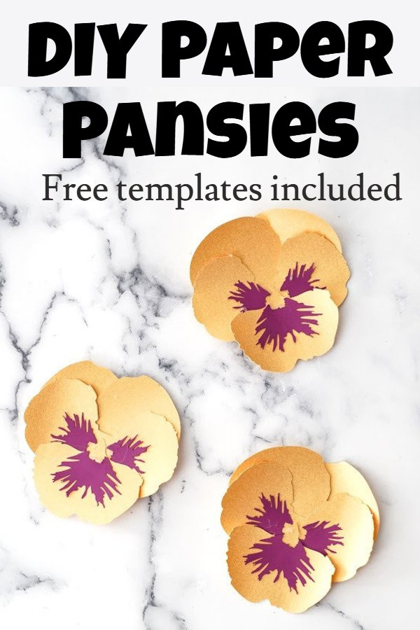 Easy paper pansy flower