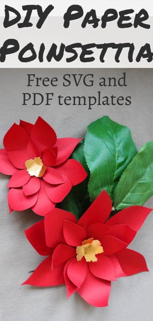 paper poinsettia template