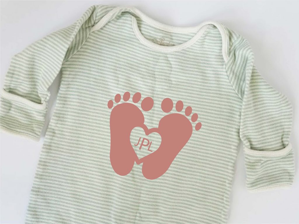 baby feet outline svg