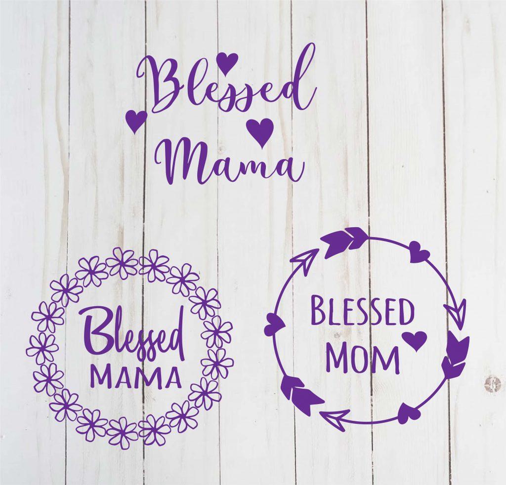 free blessed mom svg