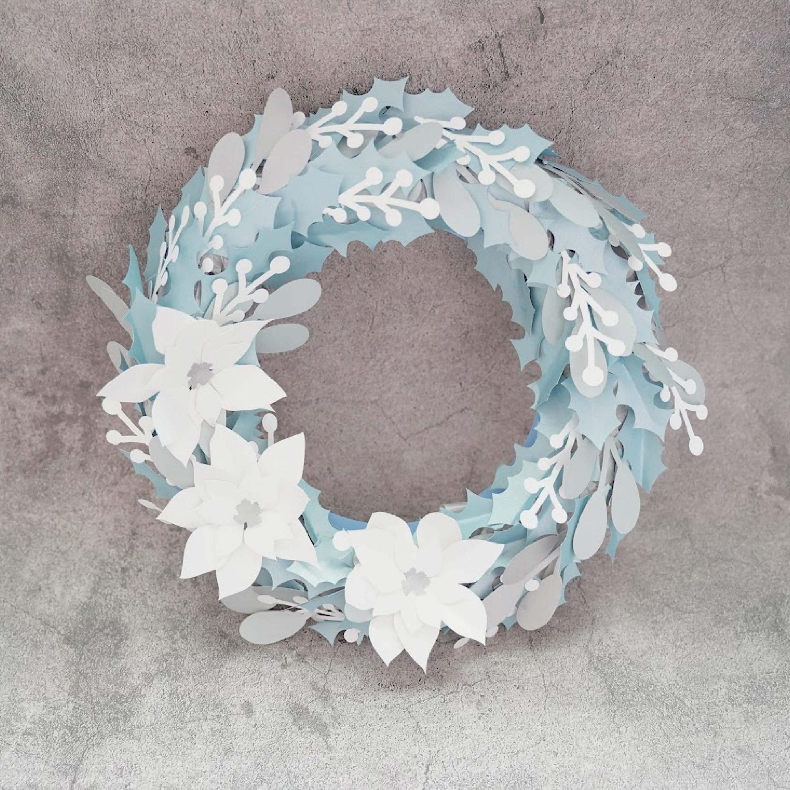 Winter Poinsetta Wreath