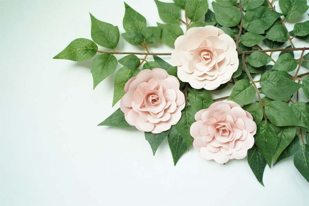 free rose paper flower template pdf