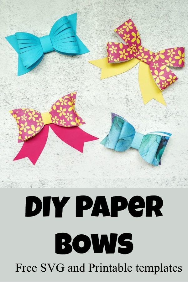 DIY paper bow template