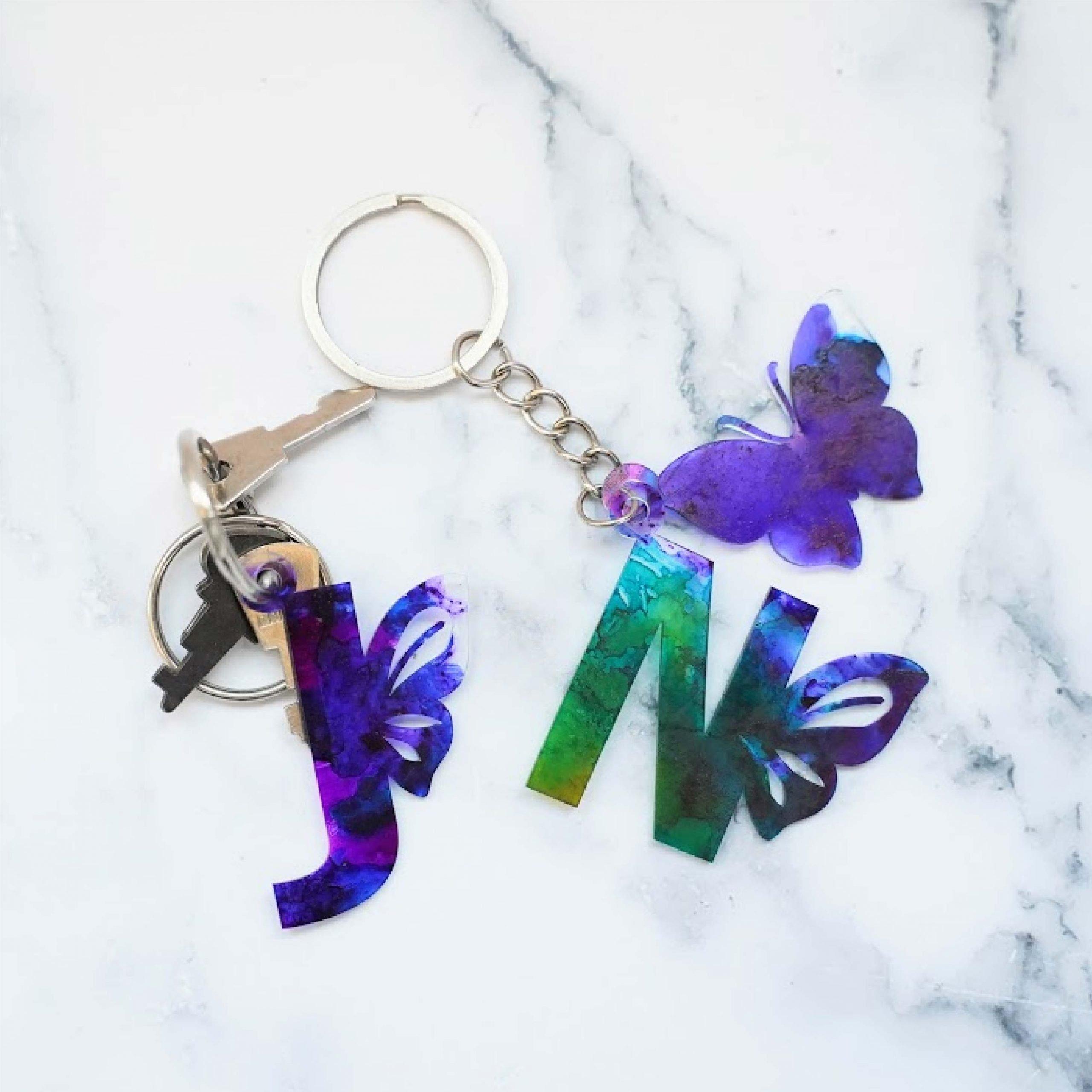 Butterfly Alphabet keychain