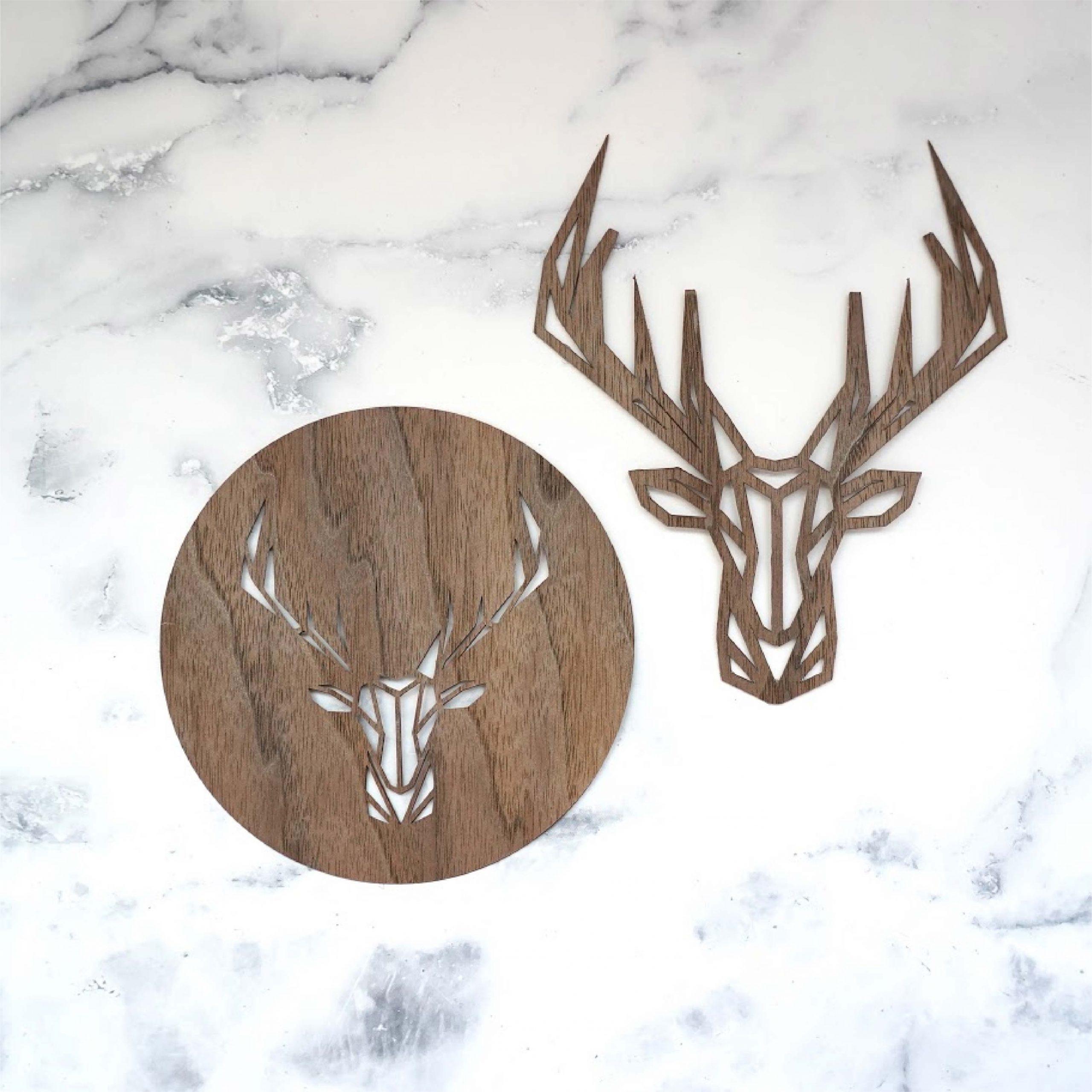 Deer ornament coaster