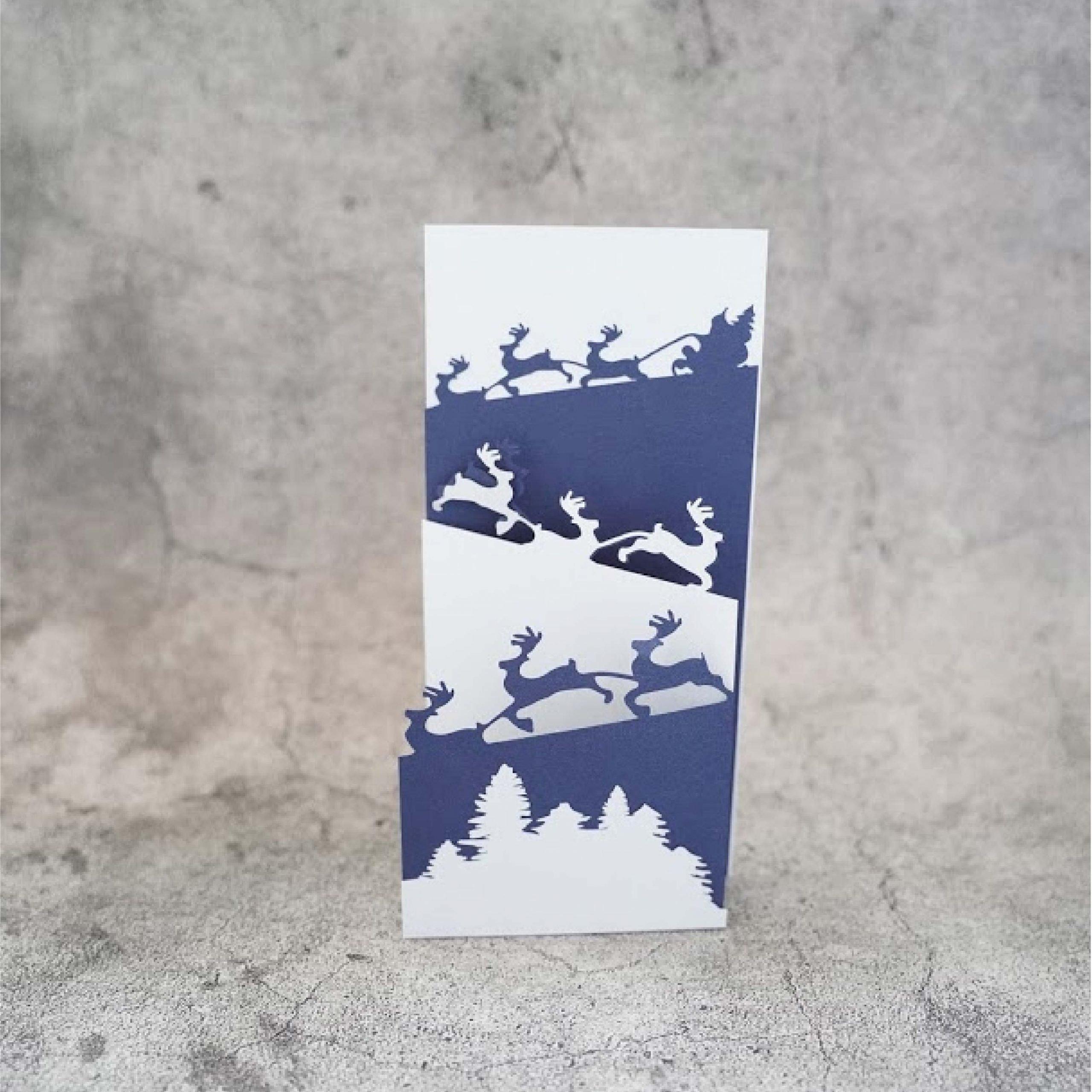 Santa funfold card