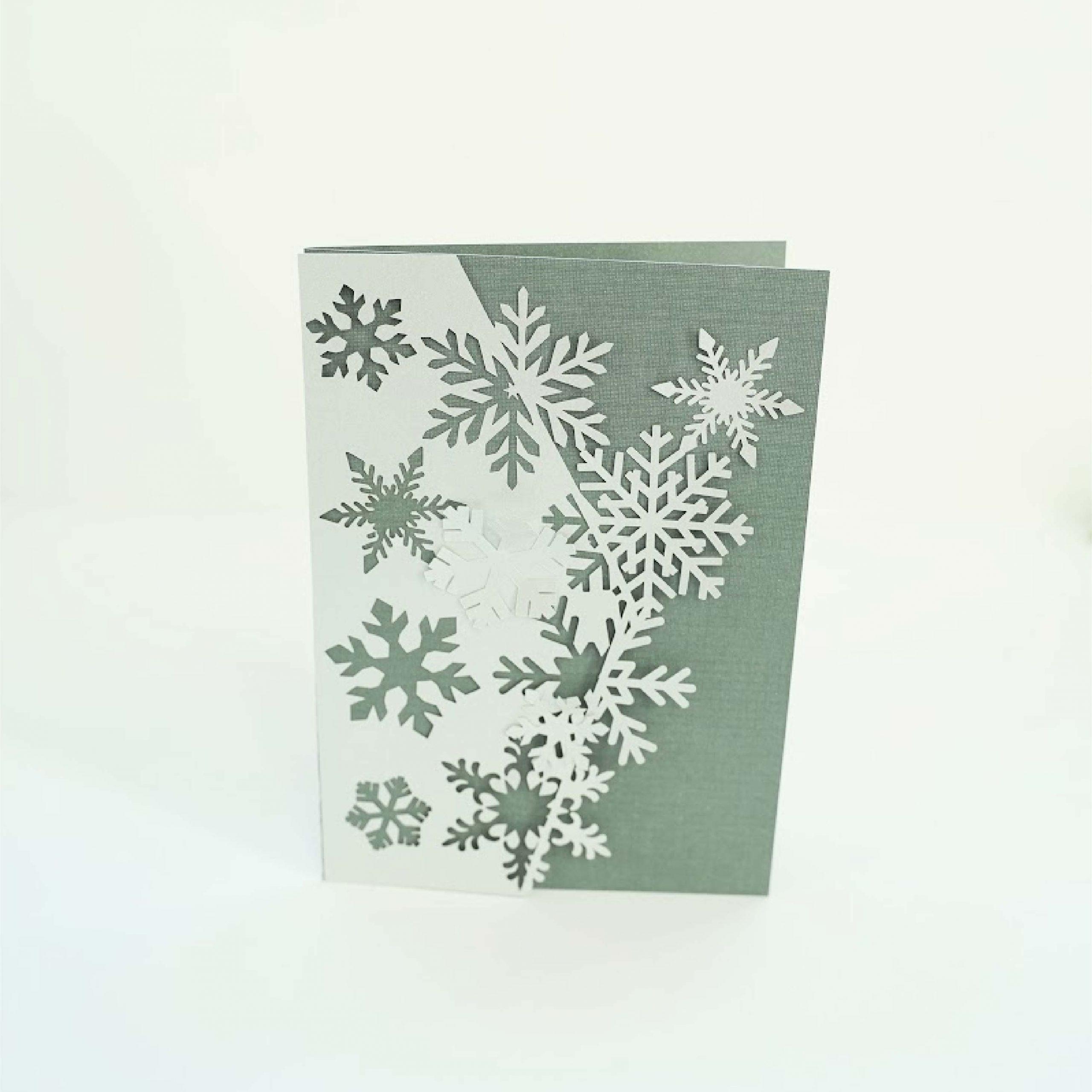 Snowflake half half card