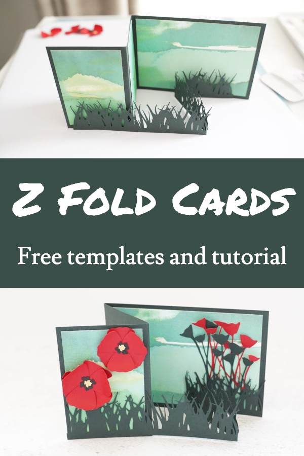 double z fold card tutorial