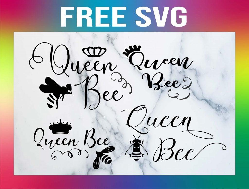 Free Queen Bee SVG